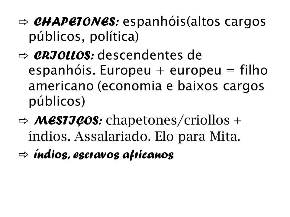 ⇨ CHAPETONES: espanhóis(altos cargos públicos, política)