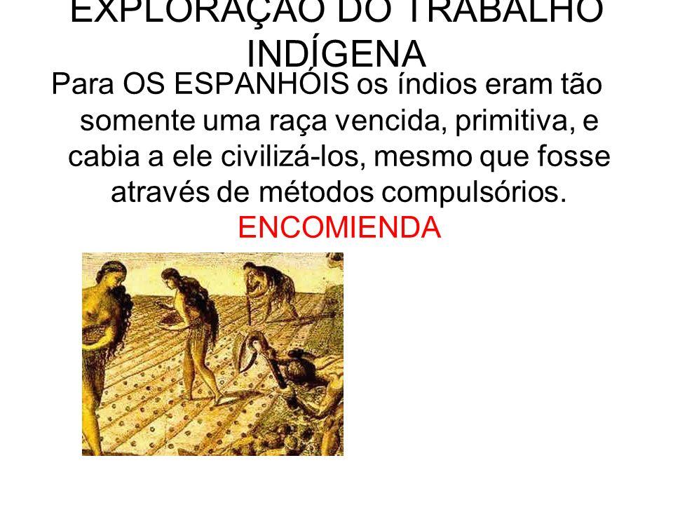 EXPLORAÇÃO DO TRABALHO INDÍGENA