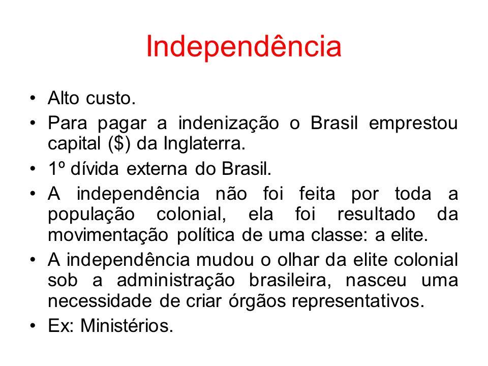 Independência Alto custo.