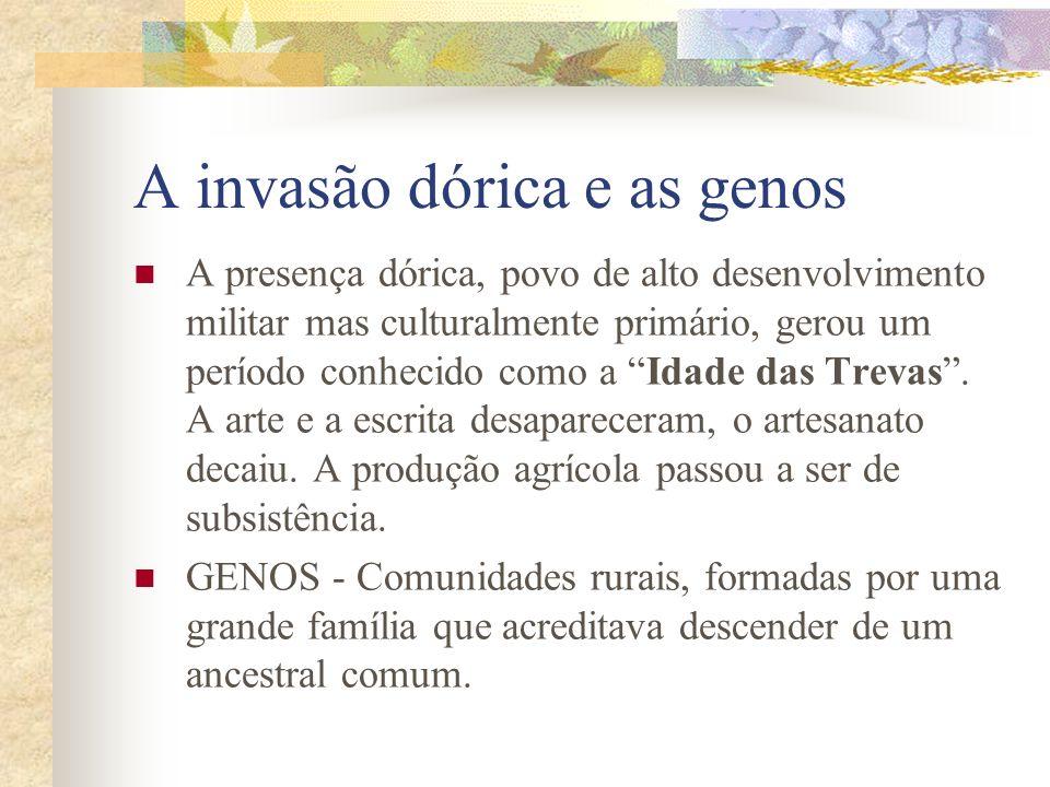 A invasão dórica e as genos