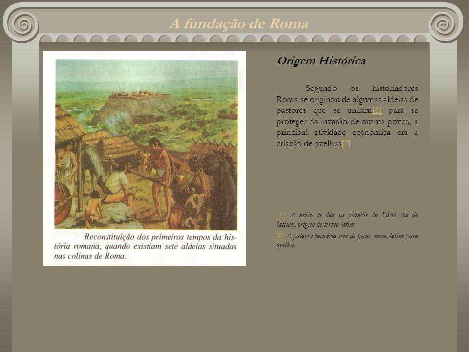 A fundação de Roma Origem Histórica