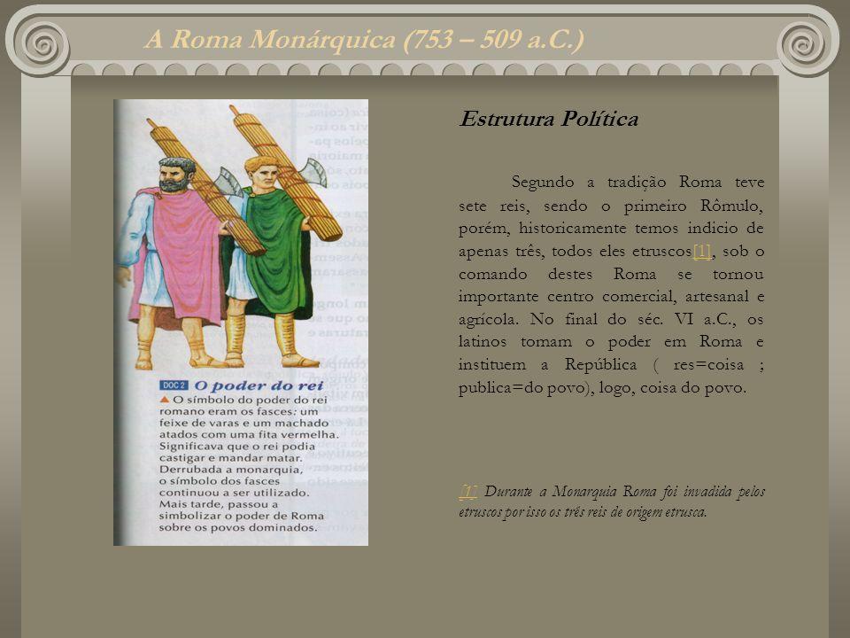 A Roma Monárquica (753 – 509 a.C.)