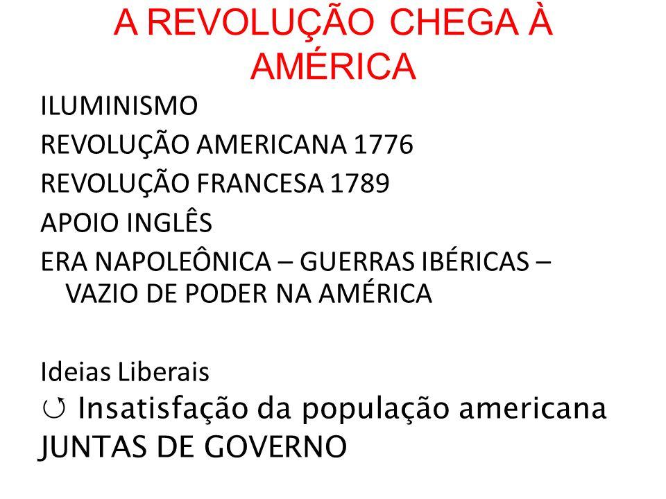 A REVOLUÇÃO CHEGA À AMÉRICA
