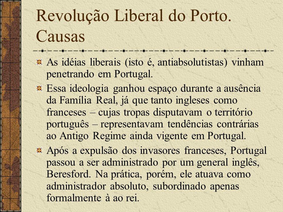 Revolução Liberal do Porto. Causas
