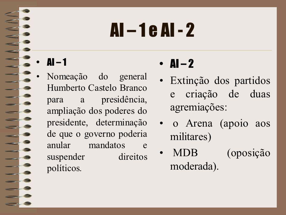 AI – 1 e AI - 2 AI – 1.