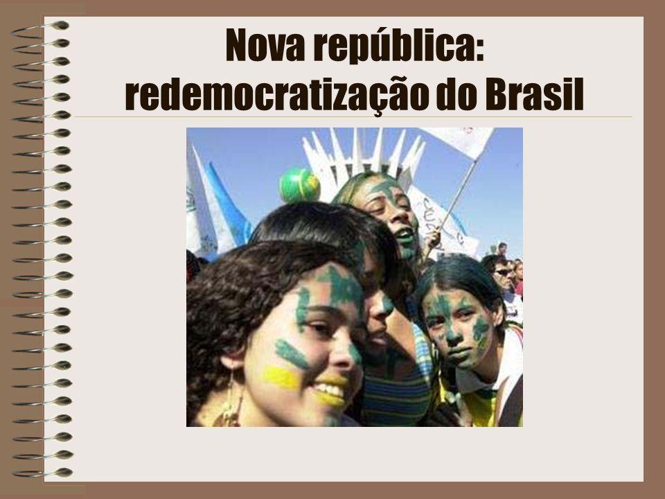 Nova república: redemocratização do Brasil