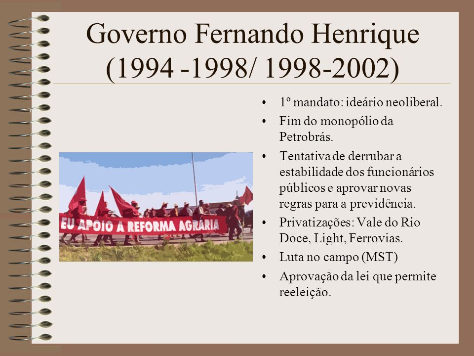 Governo Fernando Henrique (1994 -1998/ 1998-2002)