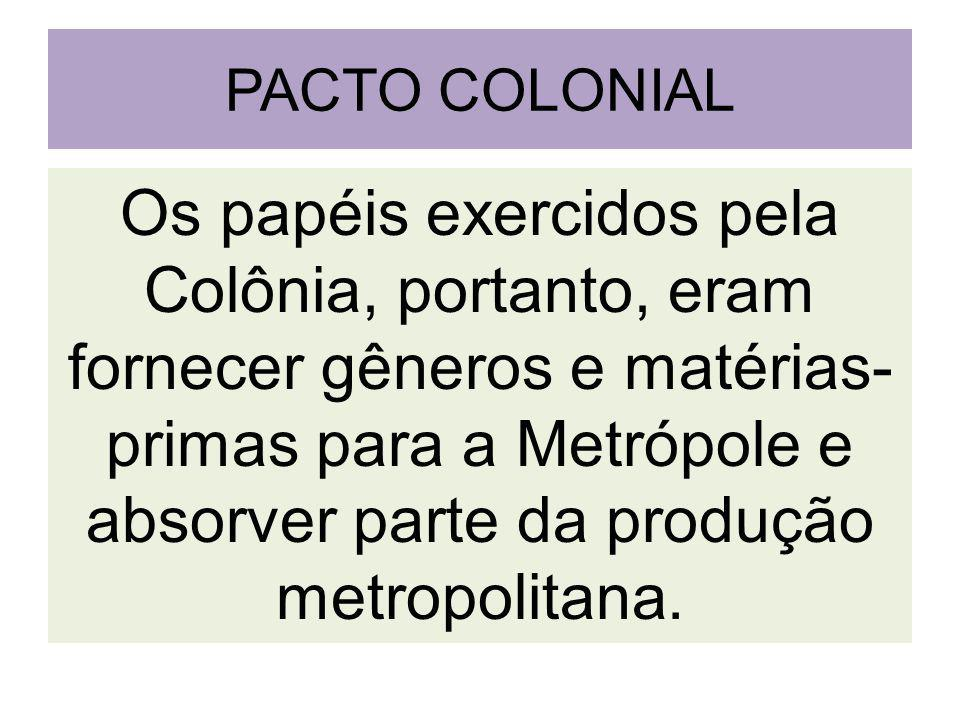 PACTO COLONIAL