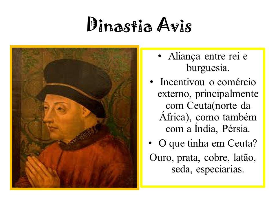Dinastia Avis Aliança entre rei e burguesia.