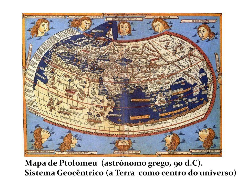 Mapa de Ptolomeu (astrônomo grego, 90 d.C).