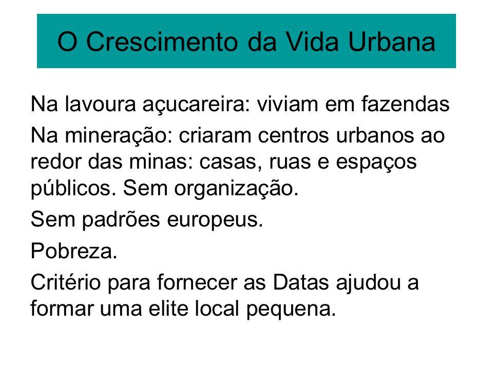 O Crescimento da Vida Urbana