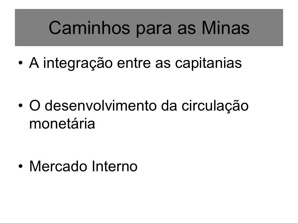 Caminhos para as Minas A integração entre as capitanias