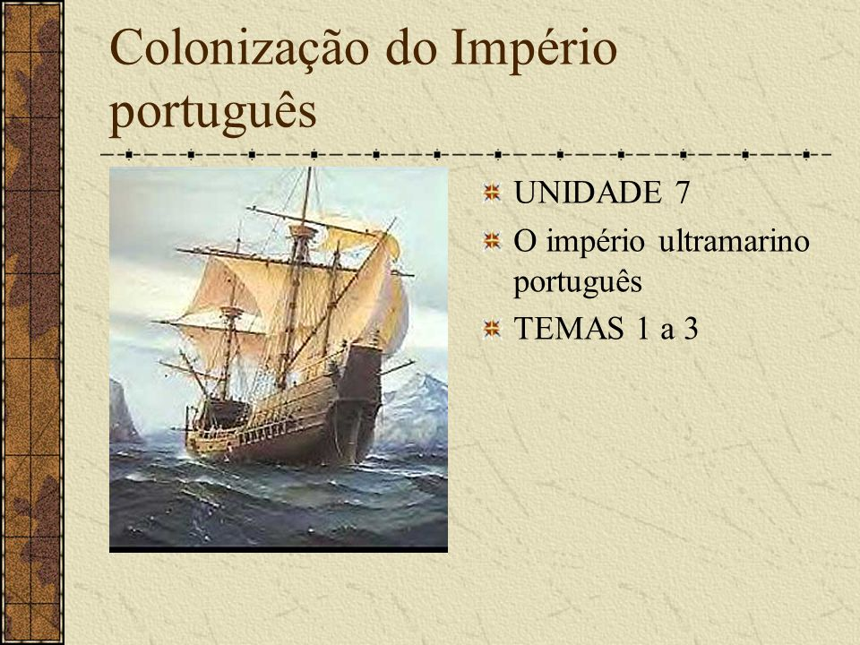 Colonização do Império português