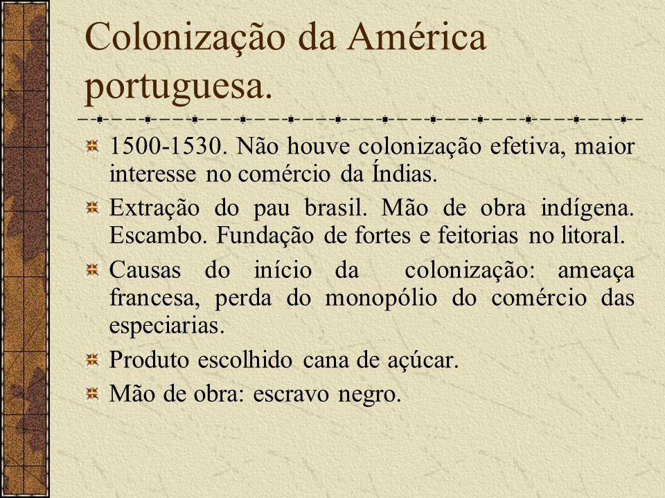Colonização da América portuguesa.