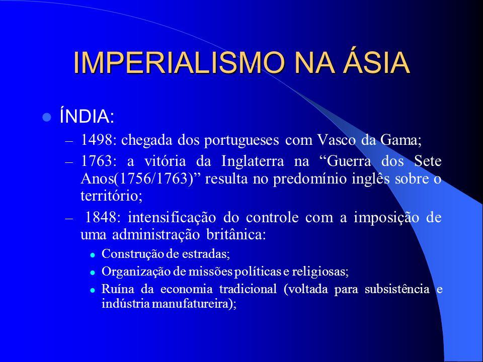 IMPERIALISMO NA ÁSIA ÍNDIA: