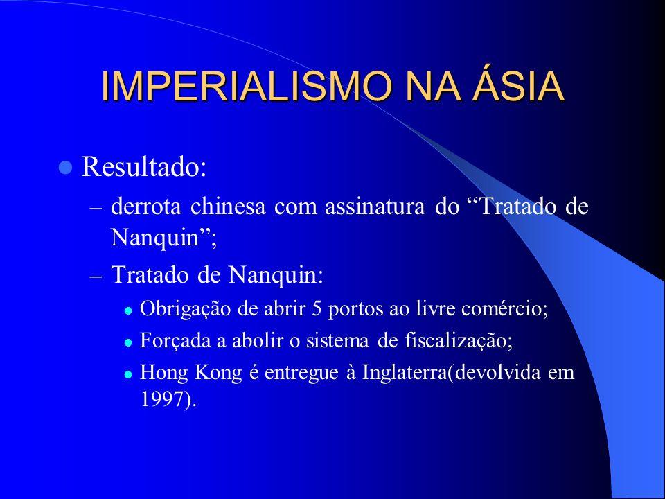 IMPERIALISMO NA ÁSIA Resultado: