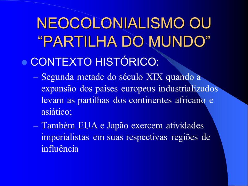 NEOCOLONIALISMO OU PARTILHA DO MUNDO