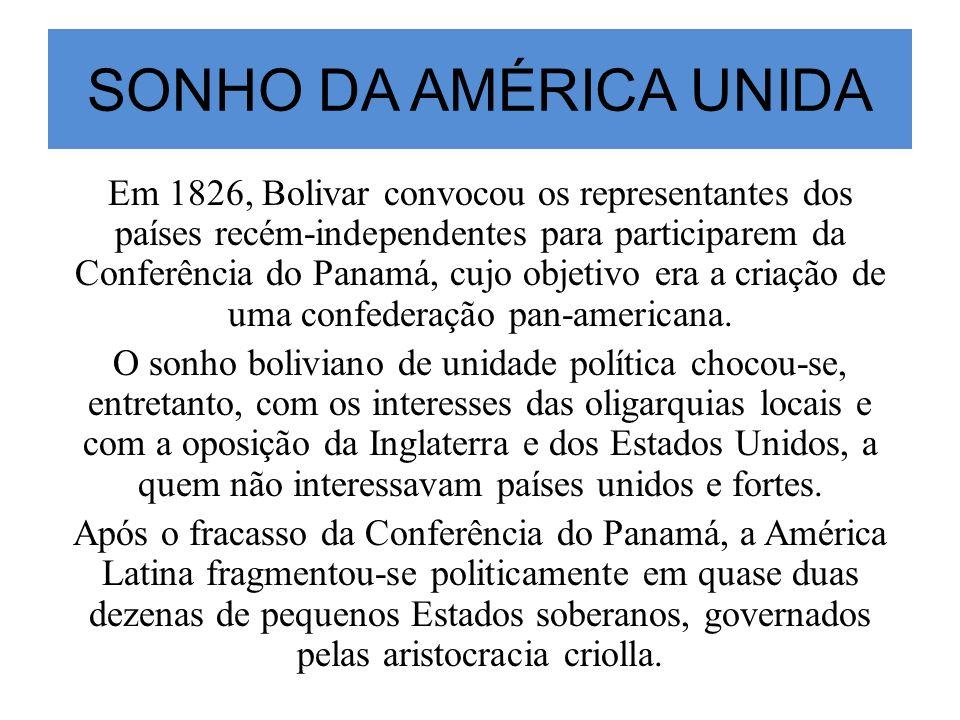 SONHO DA AMÉRICA UNIDA