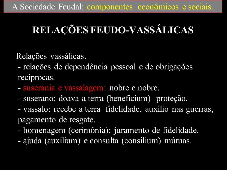 RELAÇÕES FEUDO-VASSÁLICAS