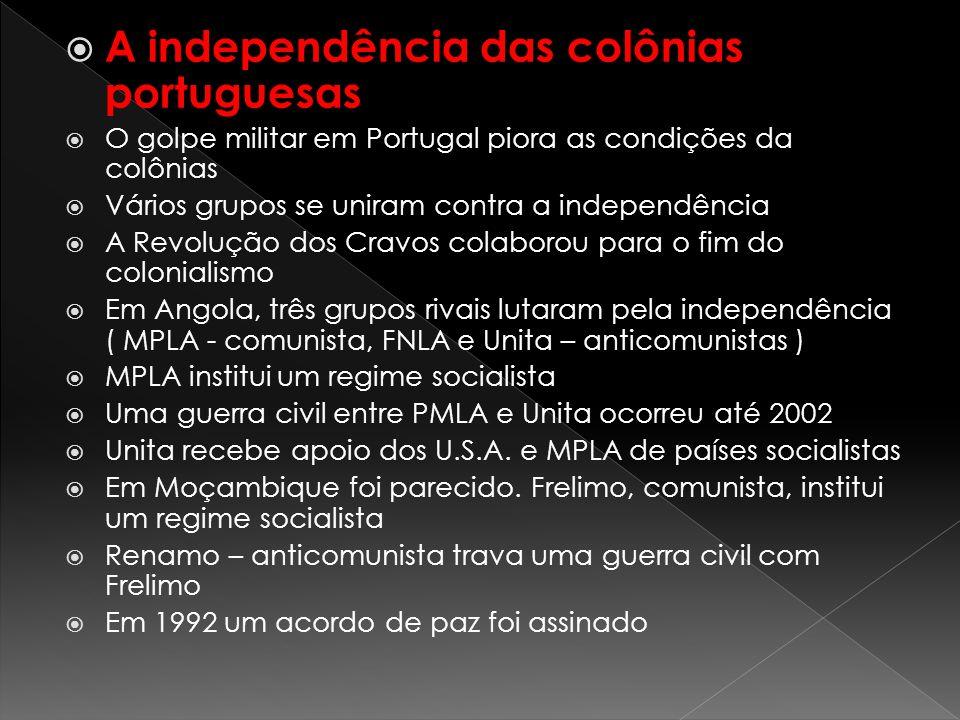 A independência das colônias portuguesas
