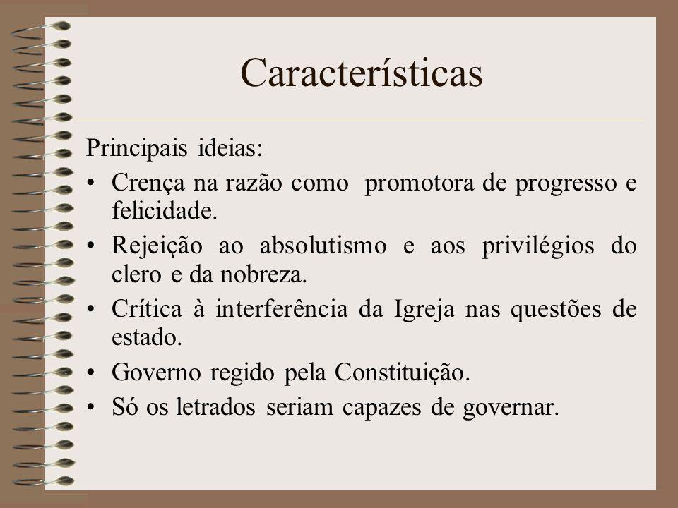 Características Principais ideias: