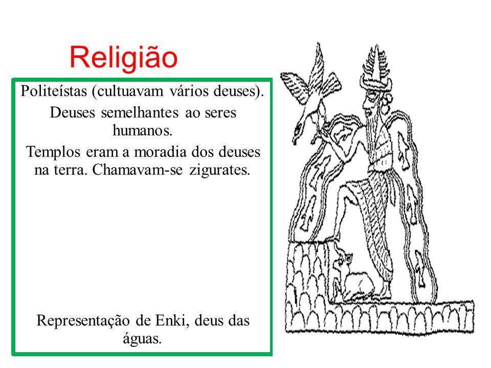 Religião Politeístas (cultuavam vários deuses).