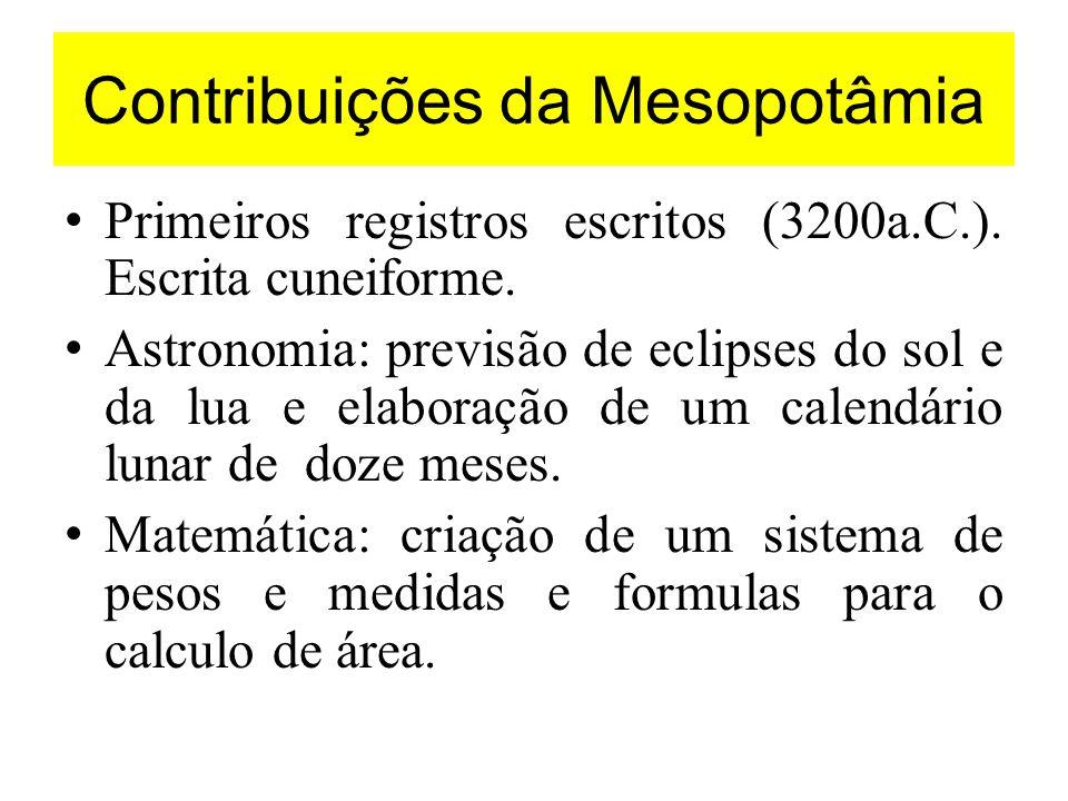 Contribuições da Mesopotâmia