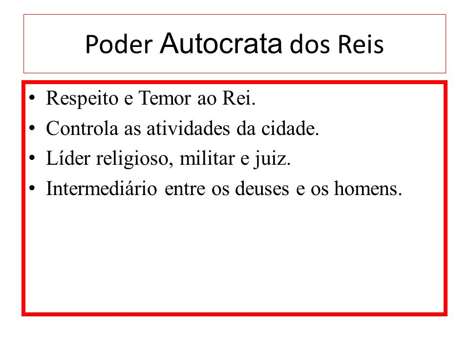 Poder Autocrata dos Reis