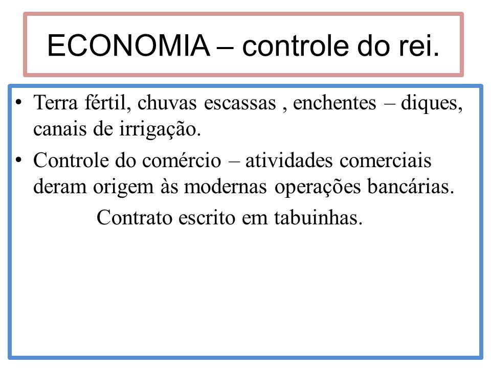 ECONOMIA – controle do rei.