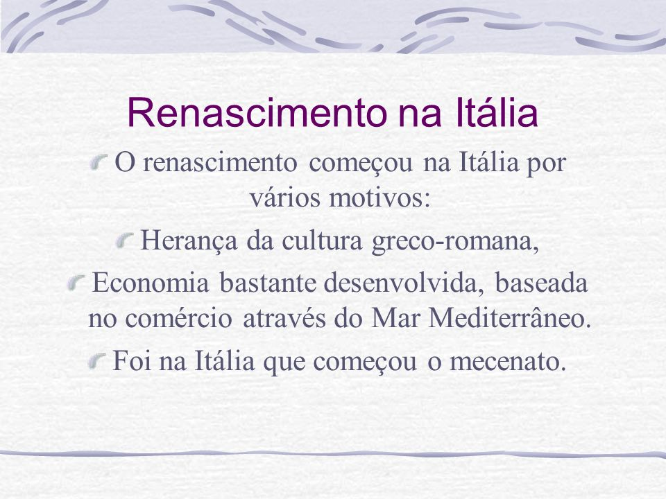 Renascimento na Itália