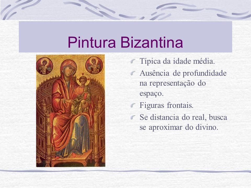 Pintura Bizantina Típica da idade média.