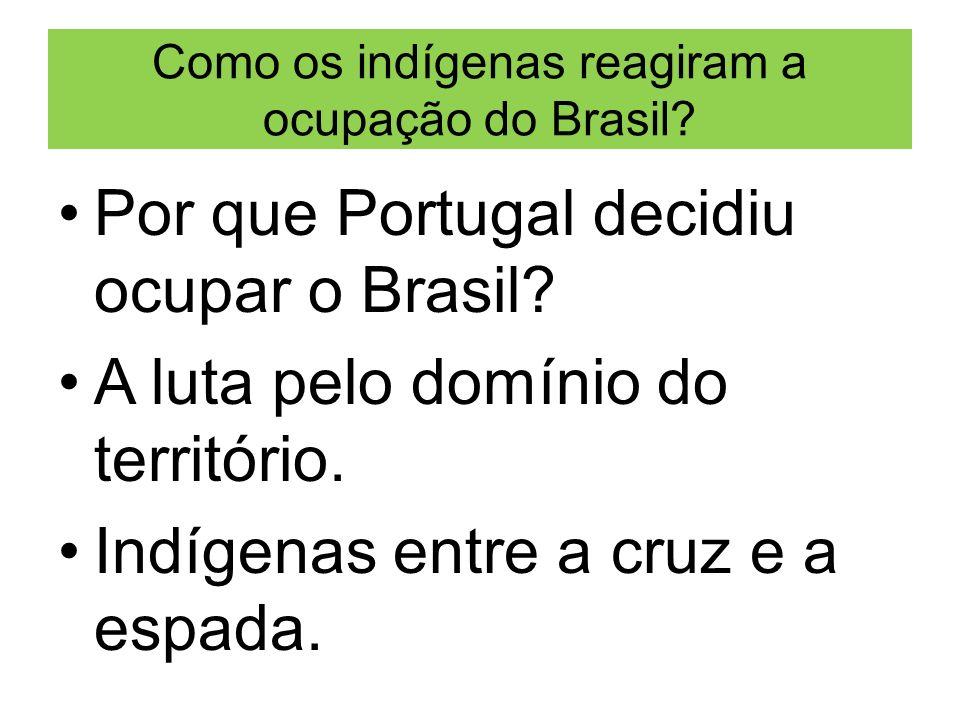 Como os indígenas reagiram a ocupação do Brasil