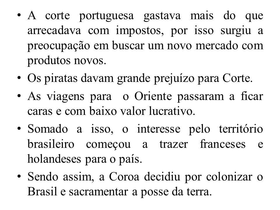 A corte portuguesa gastava mais do que arrecadava com impostos, por isso surgiu a preocupação em buscar um novo mercado com produtos novos.