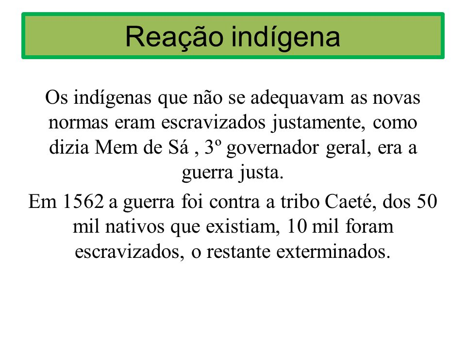Reação indígena