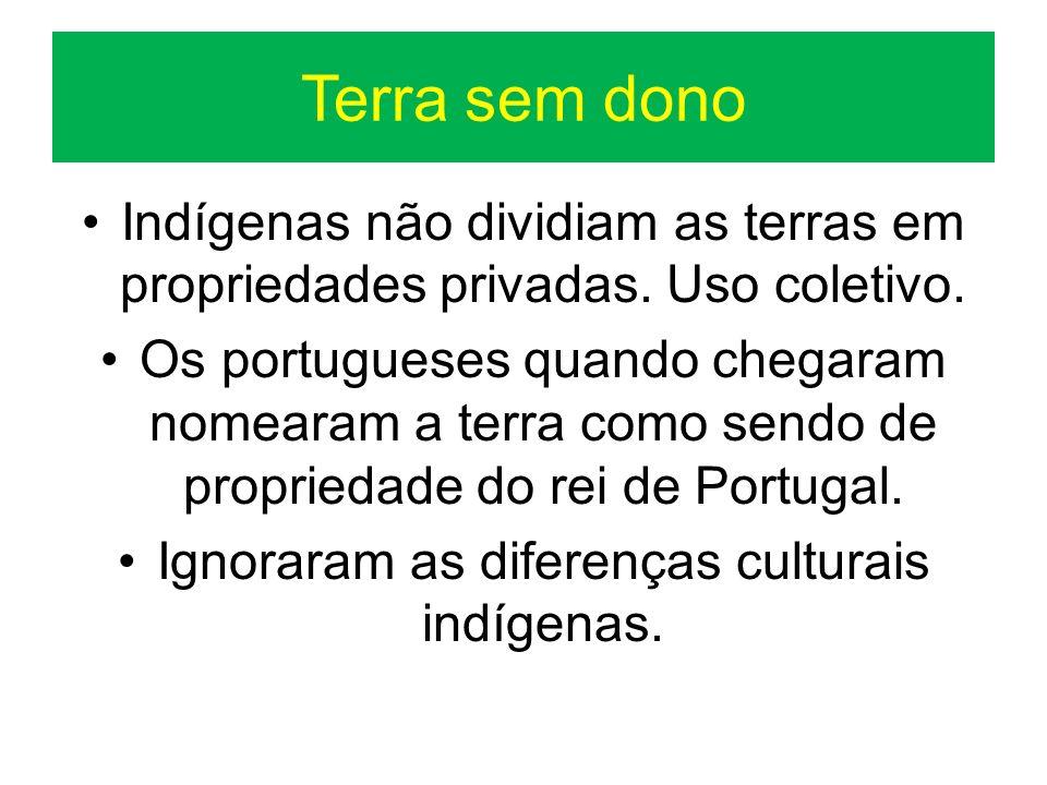 Ignoraram as diferenças culturais indígenas.