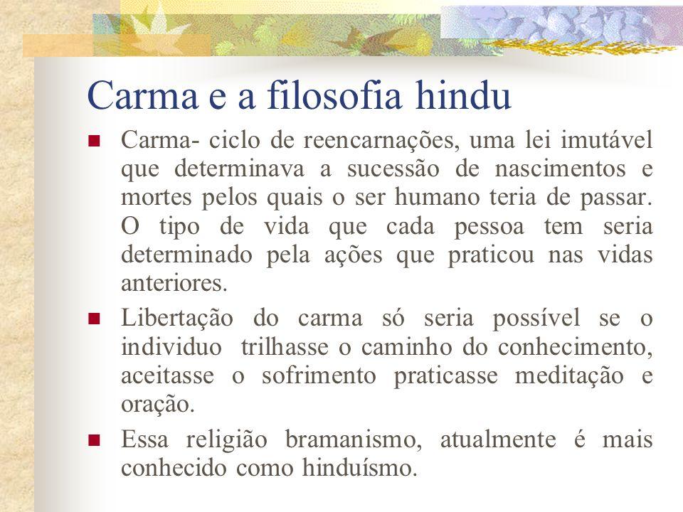 Carma e a filosofia hindu