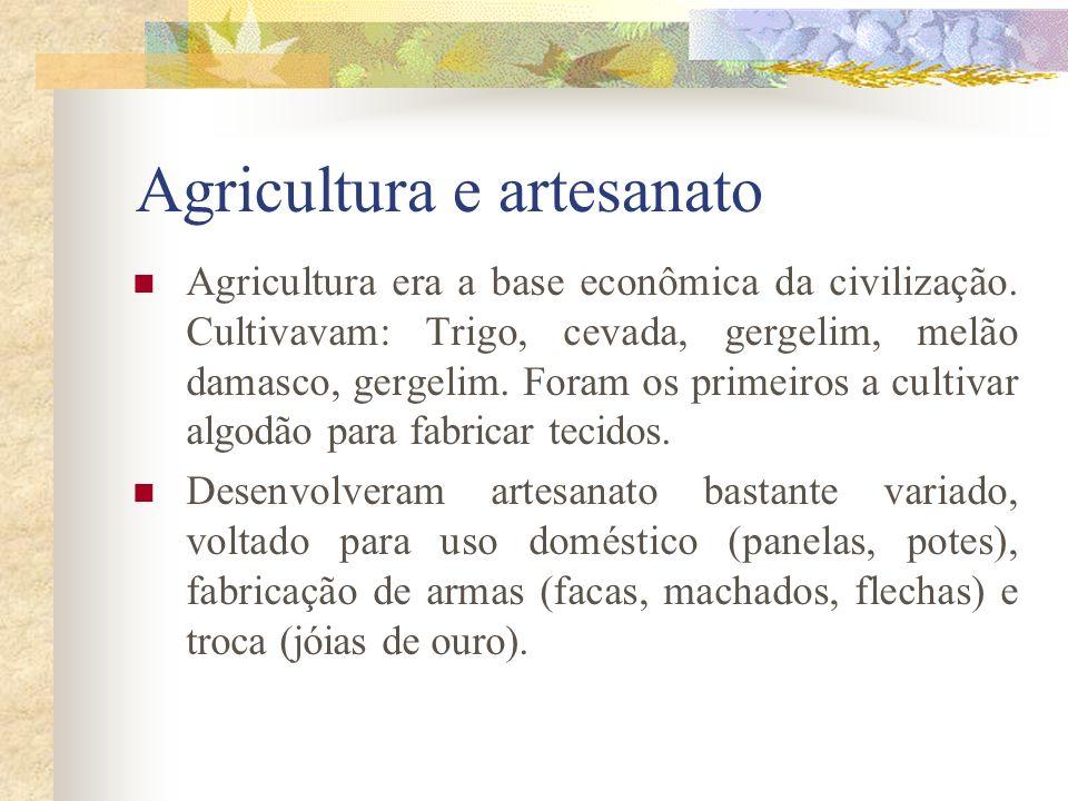 Agricultura e artesanato