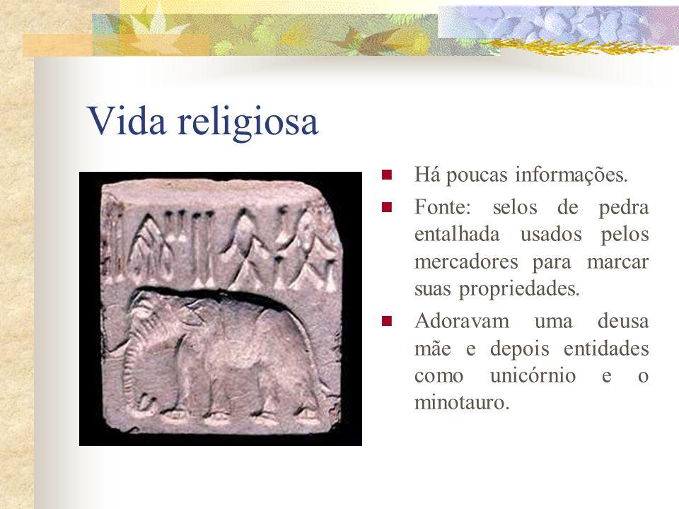 Vida religiosa Há poucas informações.