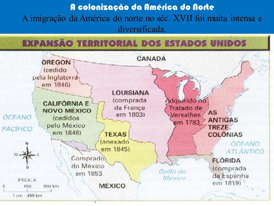 A colonização da América do Norte A imigração da América do norte no séc.