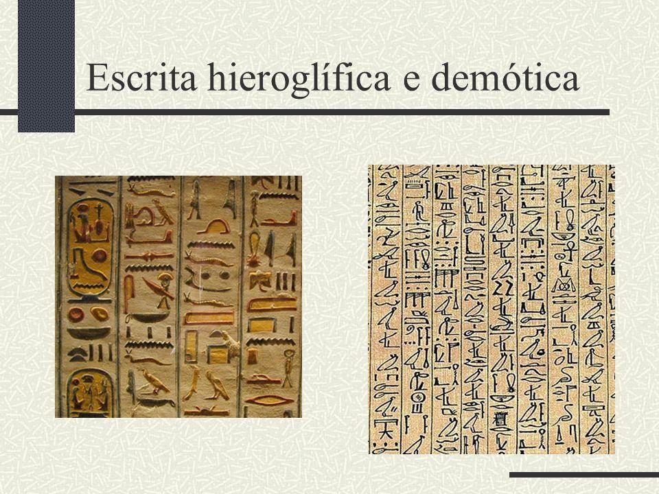Escrita hieroglífica e demótica