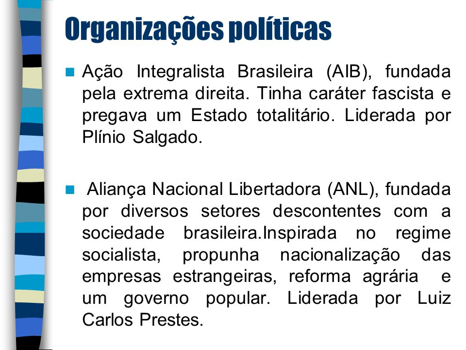 Organizações políticas