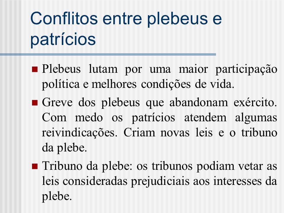 Conflitos entre plebeus e patrícios
