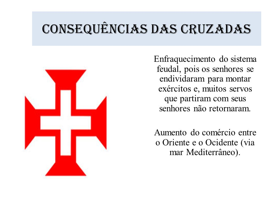 Consequências das cruzadas