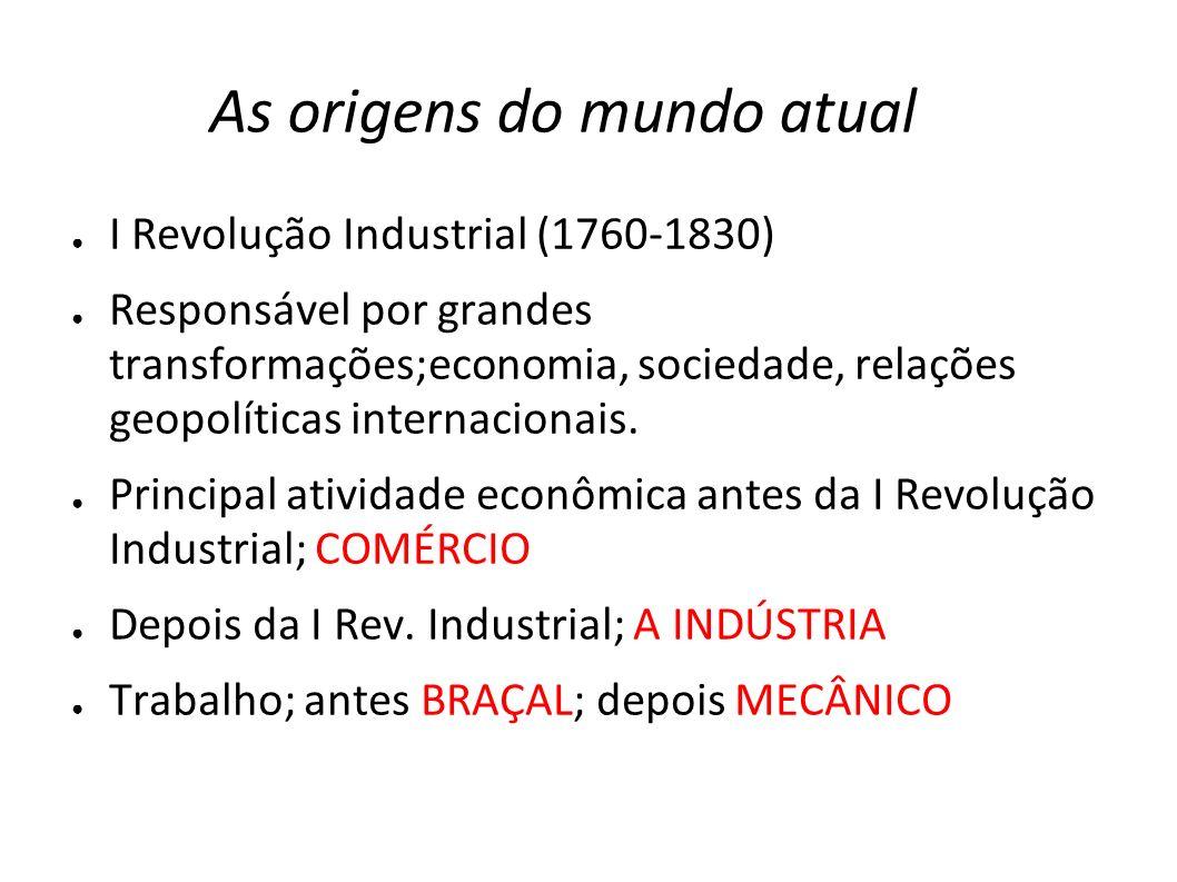 As origens do mundo atual