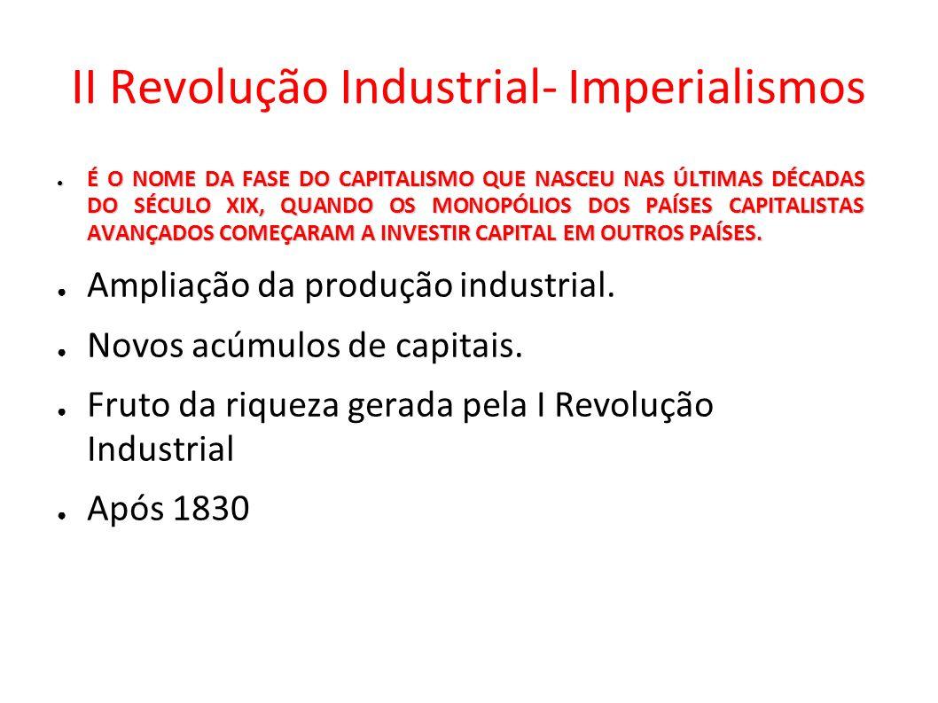 II Revolução Industrial- Imperialismos