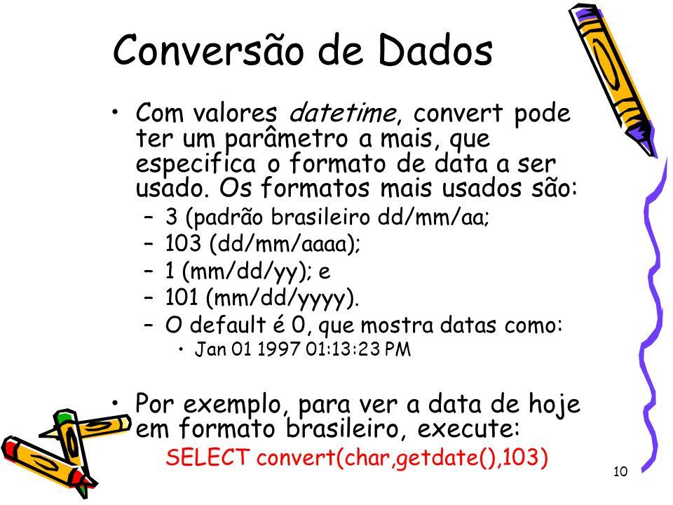 Conversão de Dados