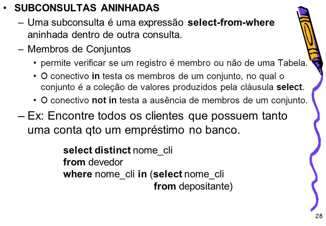 SUBCONSULTAS ANINHADAS