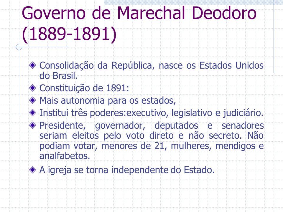 Governo de Marechal Deodoro (1889-1891)