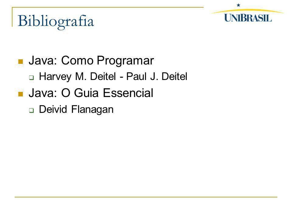 Bibliografia Java: Como Programar Java: O Guia Essencial