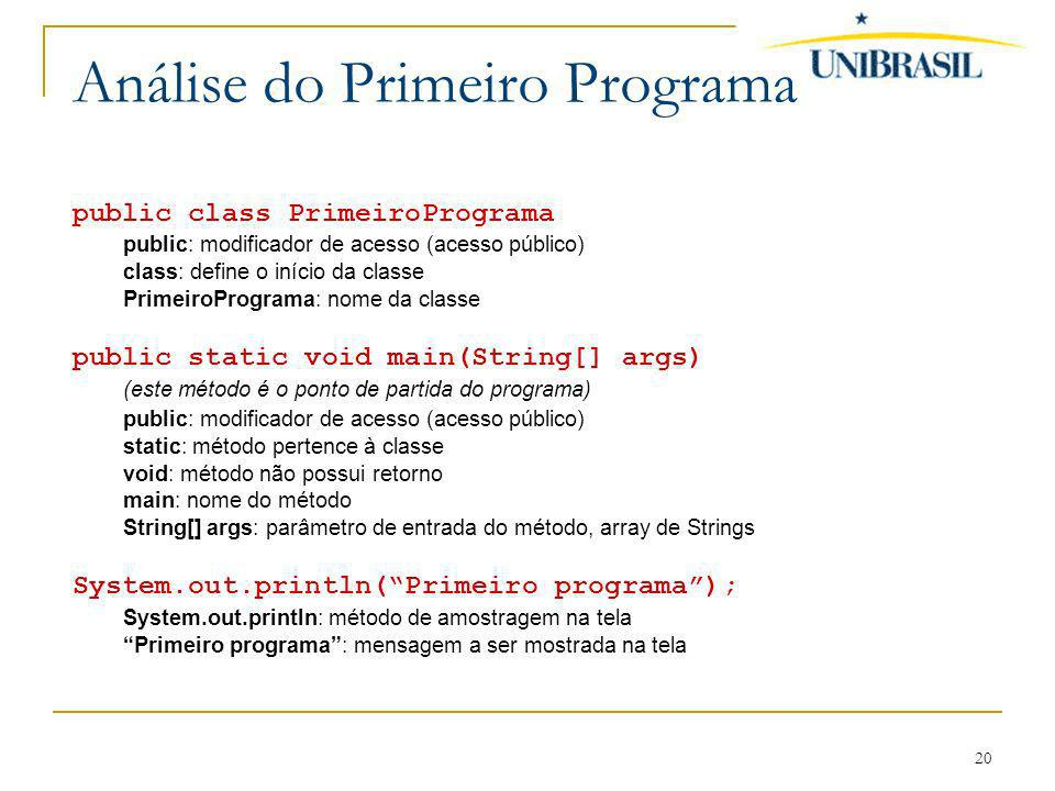 Análise do Primeiro Programa